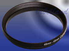 48mm-49mm Filter Adaptor Ring Converts 48mm lens thread to 49mm 48-49 Step-Up UK