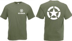 US Army T-Shirt Hummer Allied Star 3-5XL H1 TOP 4x4 Off-Road US Car Truck Oldi