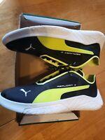 New in Box, Mens Puma Replicat X Circuit Shoes size 11.5. Black, Yellow & White.