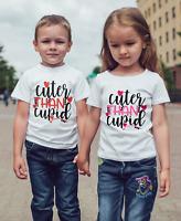 "Valentines Day T-shirt Boy/girl ""cuter than cupid"" baby/children/kids"