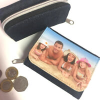 Personalised/Photo/Coin/Customised Ladies Purse, Tri-Fold Wallet With Photo/Text