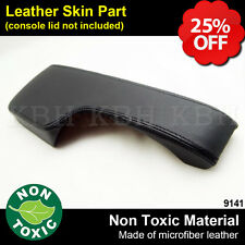 Leather Armrest Center Console Lid Cover Fits for Honda Civic 2001-2005 Black