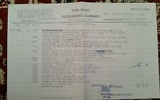 Copy of WW2 Page from official war diary of 10th brigade 1st Polish Armoured....