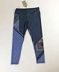 NWT Prana Pillar Printed Blue Sangria Leggings Workout Pants Sz L Activewear