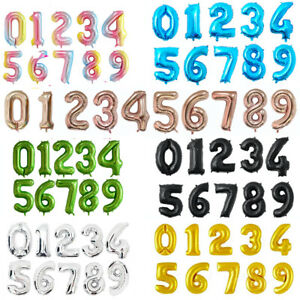 16 32 40 Inch Numbers Party Balloons Decorations Supplies for Adult Kids Events