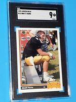 1991 Brett Favre Upper Deck #13 SGC 9 MINT ROOKIE CARD