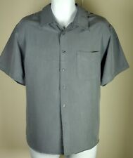 Men's ANDREW FEZZA Blue Gray Button Down Shirt XL Short Sleeve