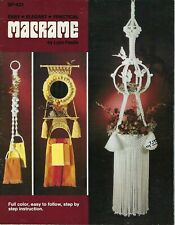 Easy Elegant Practical Macrame Book Curtain & Lamp Vintage Patterns
