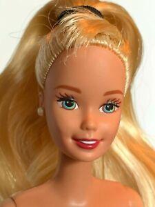 OOAK Superstar BARBIE Doll Tall Body Hybrid, Blonde Ponytail, Nude, EUC