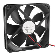 120mm x 25mm 12V 2Pin Sleeve Bearing Cooling Fan for Computer Case LW