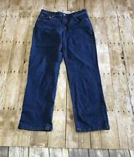 Riders Womens 12 Blue Denim No Gap Waistband Stretch Jeans Straight Leg