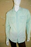 JULES FITTED Taille XL  Superbe chemise manches longues homme vert d' eau