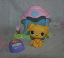 LPS Littlest Pet Shop #321 Blonde Golden Retriever Dog Puppy Yellow - House