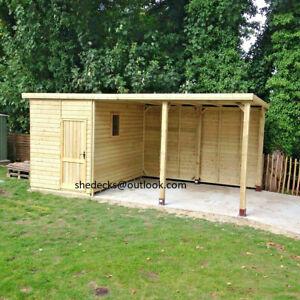 shed summerhouse workshop pent garden shelter veranda cabin man cave gym bar t&g