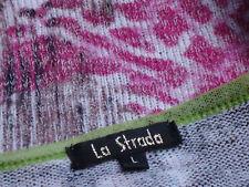 LA STRADA LiteWtMultiColouredStretch3/4Slvd SzL NWoT