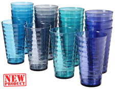 Set Of 16 Everyday Drinking Glasses Durable Large Thick Tumblers Drinkware 18 Oz