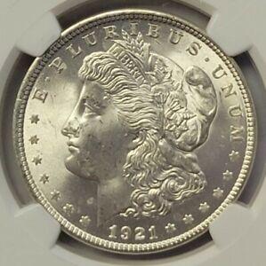 1921 Morgan Silver Dollar $1 NGC MS64