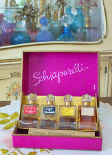 VTG NIB 1940s Parfums de Schiaparelli SALUT, ROY SOLEIL, ZUT, SHOCKING 4-Pc Set