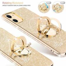 iPhone 11 Case Glitter Luxury Diamond Rhinestone Funcy Ring Grip Thin Girly Gold