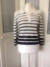 Ladies White top By Michelle Reenergise Size l