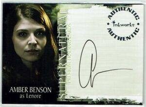 Supernatural Season 2 Inkworks Autograph Card A-14 Amber Benson as Lenore