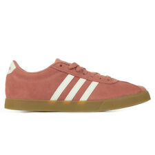 Chaussures Baskets adidas femme Courtset taille Rose Suède Lacets