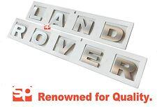 LAND ROVER DEFENDER SILVER 3D BONNET LETTERS LETTERING DISCOVERY 3 4 FREELANDER
