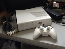 White Special Edition 120gb Microsoft Xbox 360 Slim S Console System Complete