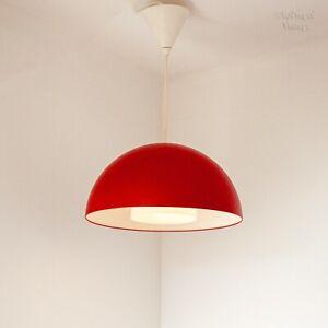Red Enamel Ikea 365 + Brasa Pendant Ceiling Light Fixture 2012 Discontinued Item