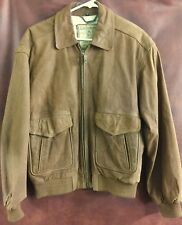 EUC MEMBERS ONLY Brown Leather Bomber Jacket Coat Size 42