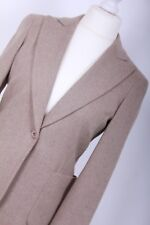 MAX MARA STUDIO RRP £655 UK 10 EU 38 Beige Wool Suit Blazer Work Jacket Coat