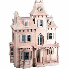 The Beacon Hill Dollhouse Kit Vintage Scale Victorian Wooden Mansion 7 Room New