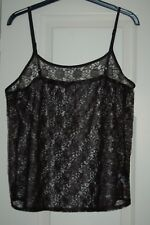 New 14 Total Lace Body Floral Vest Top Adjustable Straps Sheer Fabric 4 Layering