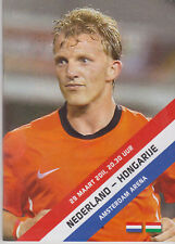 Programme / Programma Holland v Hungary 29-03-2011 Euro 2012 Qualifier