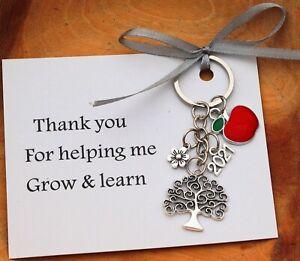 THANK YOU GIFT FOR  TEACHER  Nursery teacher Child minder gift keyring