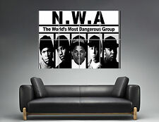 NWA Straight Outta Compton RAPPER HIP HOP CHARACTER Wall Poster Grand format A0