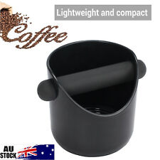 BLACK KNOCK BOX Espresso Coffee Grinds Waste Bin Strong Compact Large Capacity