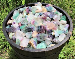 1/2 lb Bulk Lot Natural Rough Fluorite (Raw Crystal Mineral Healing Rock 8 oz)