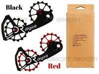 Digirit Campagnolo Campy Oversized Pulley System 16/16T Black & Red - Stainless