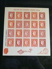 BLOC  ceres salon du timbre 2014 F4871 xx