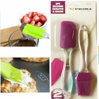 Silicone Pastry Brush + Spatula Set Grazing Baking Coating Oil Pasty Kitchen BBQ