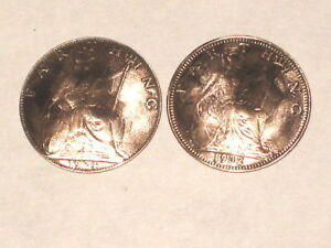 Antique Brittania farthing cuff links-domed-regal!