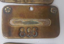 Vintage Tooele Plant International Smelting Company Brass Name Plate #896