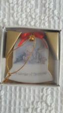 """1986 Vintage 2"""" Precious Moments Bell Ornament #208329 The Wonder Of Christmas"""