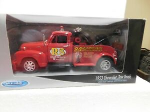 Welly 1:24 Red 1953 Chevrolet Tow Truck In Box