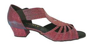 Ladies Purple Ballroom Shoes