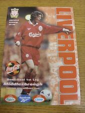 27/01/1998 Football League Cup Semi-Final: Liverpool v Middlesbrough  . We try a