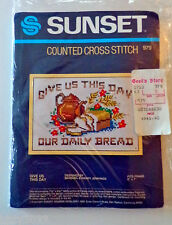 """Sunset Counted Cross Stitch Kit Give Us This Day #979  Vintage 1983 5""""x7"""""""