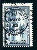 "Canada #OC6(13) PERFIN 6 cent Monoplane ""O.H.M.S."" SASKATOON SASKATCHEWAN SON"