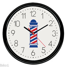 """Scalpmaster #BX9002 Barber Shop Battery operated Wall Clock 9-1/2"""" round"""